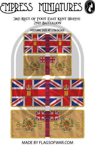 FLAG02 - 3rd Regt of Foot (East Kent (Buffs) )