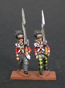 NB22- Highlanders flank company marching with trou