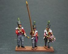 NB32- Light infantry command (Officer, drummer, en